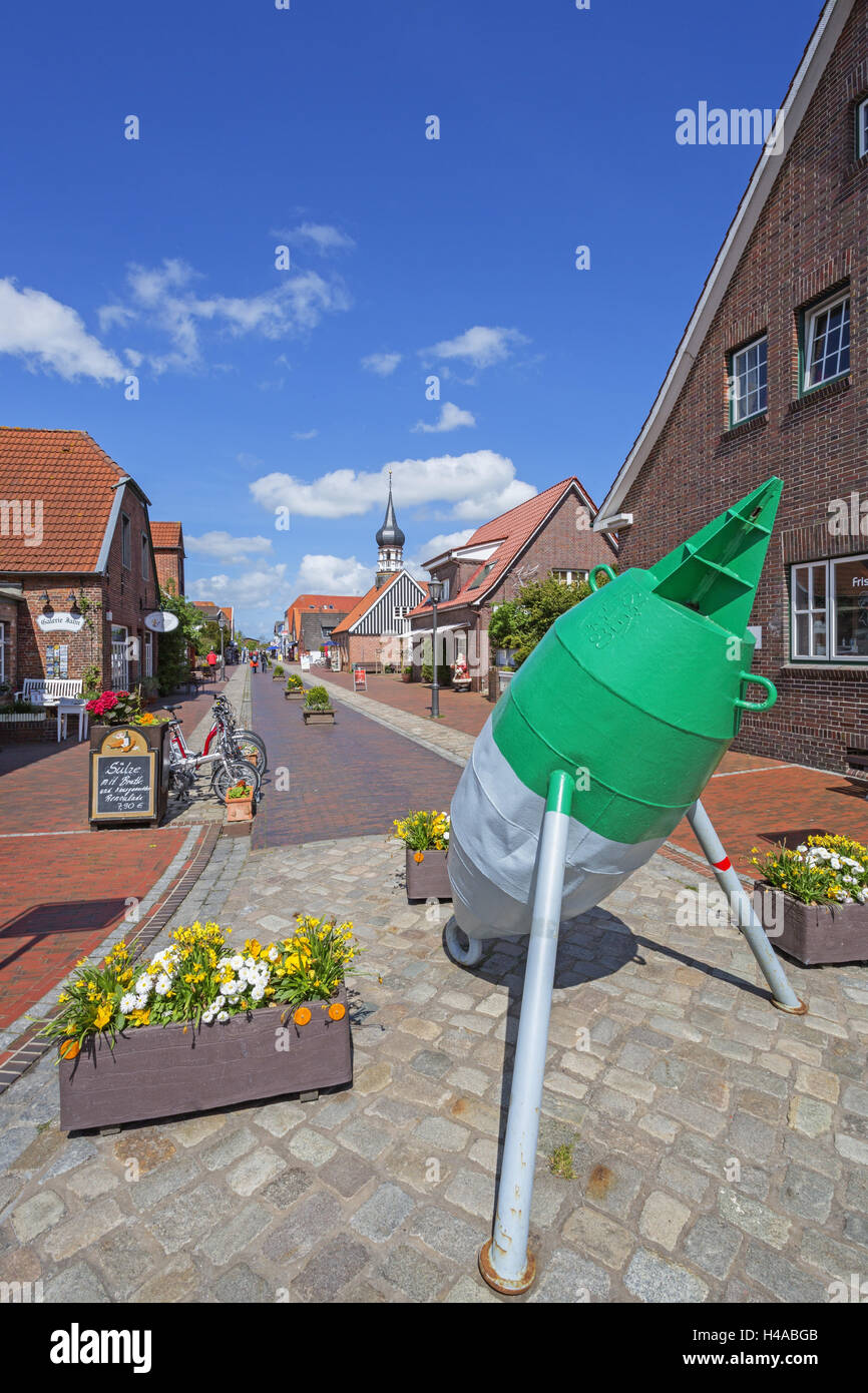 Local core of Hooksiel, Germany, Lower Saxony, - Stock Image