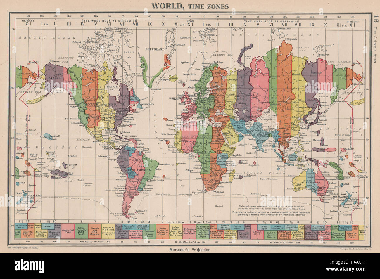 Map Of Uk Time Zones.World Time Zones Uk Ireland Spain France On Same Zone Stock