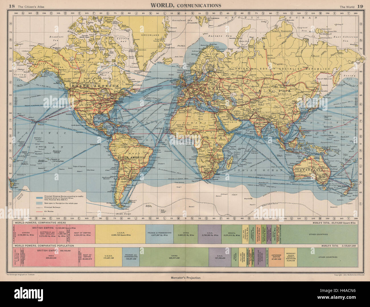 Shipping Routes Map Stock Photos & Shipping Routes Map Stock ...
