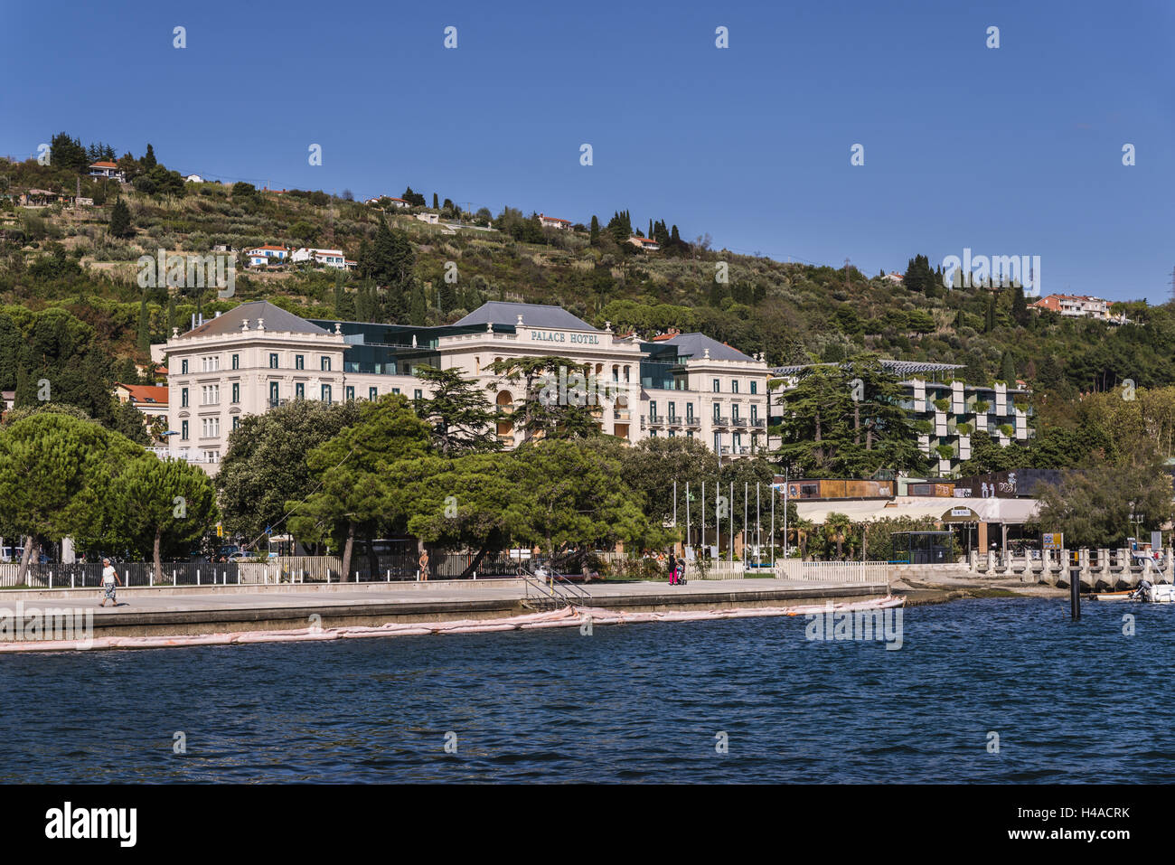 Slovenia Slovenian Riviera Portoroz Bank Promenade With Palace - Palace-hotel-in-slovenia