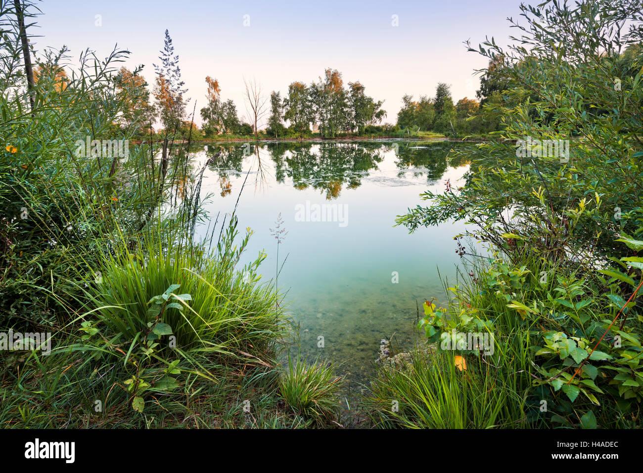 Germany, Bavaria, 'Augsburg Land' (district), lake, - Stock Image
