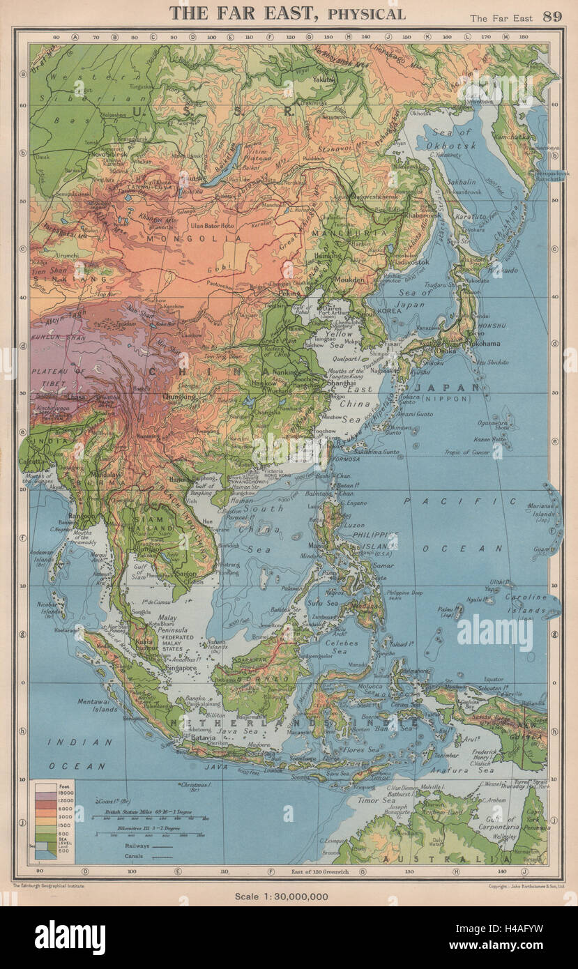 Map Asia East Indies Stock Photos & Map Asia East Indies Stock ...