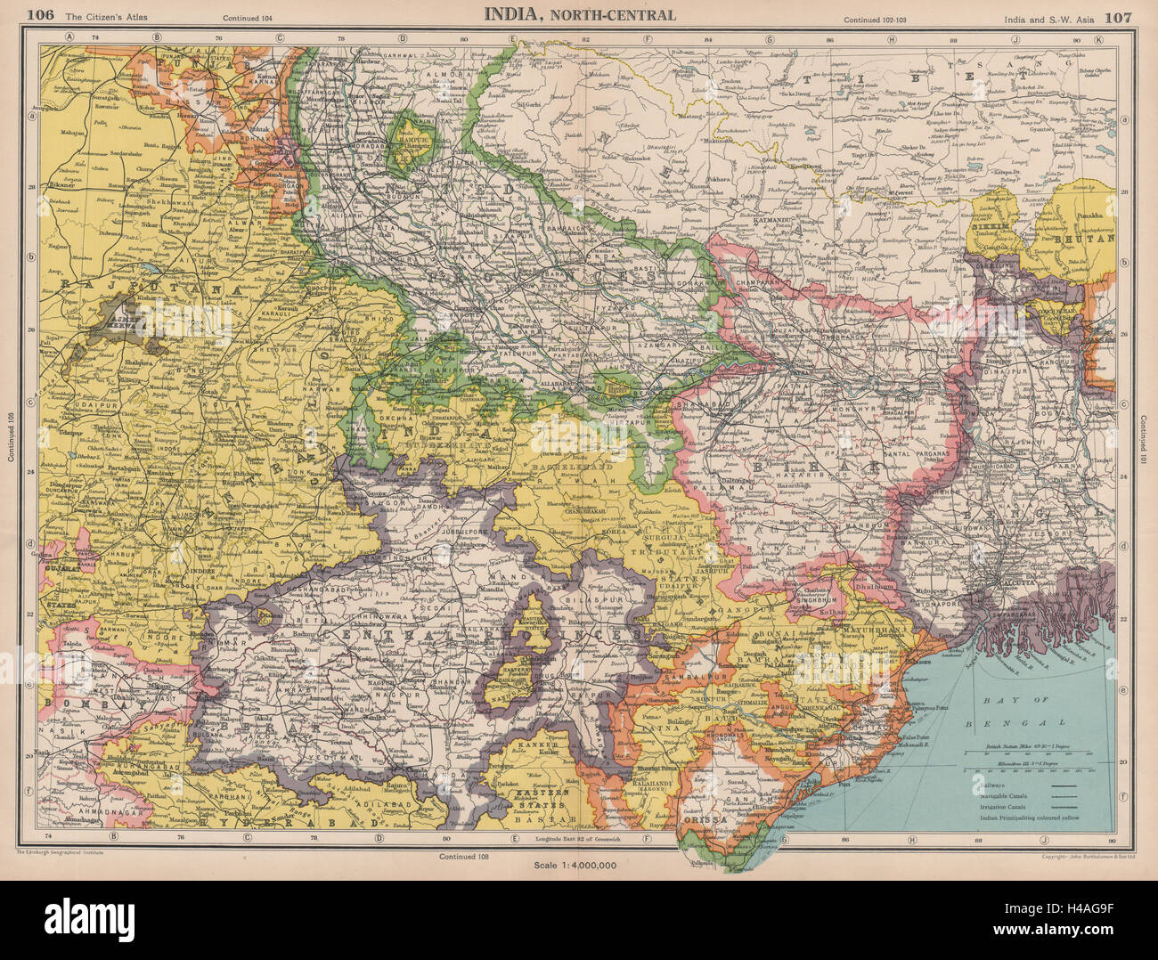 India north east nepal bihar bengal central provinces bartholomew india north east nepal bihar bengal central provinces bartholomew 1944 map gumiabroncs Image collections