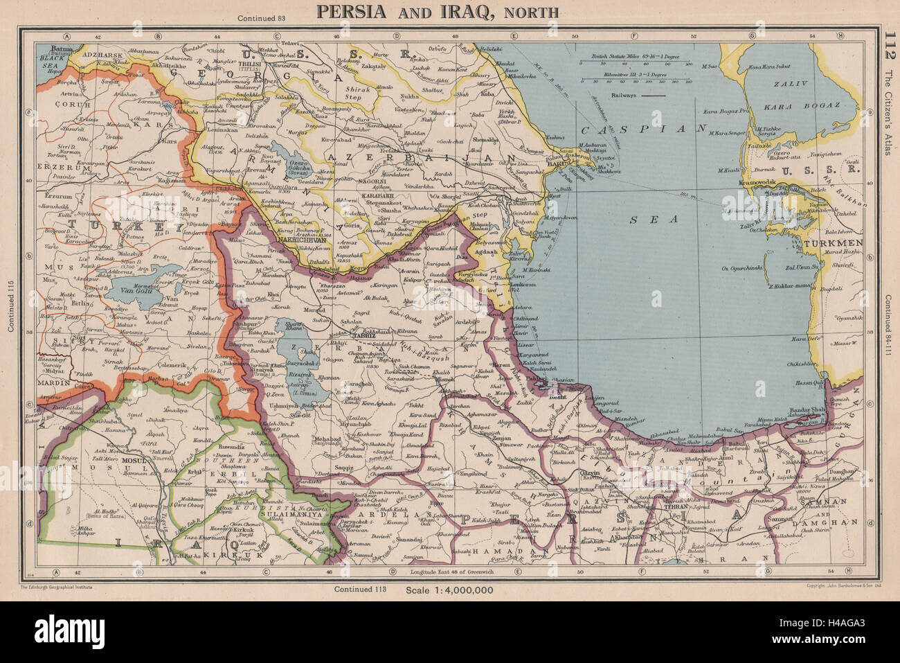 Southern caucasus persia iran north iraq azerbaijan armenia persia iran north iraq azerbaijan armenia turkey 1944 map gumiabroncs Images