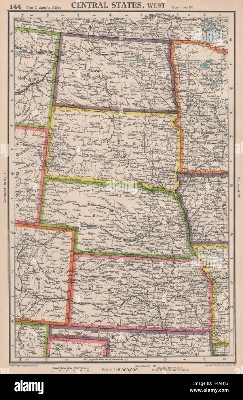 USA PLAINS STATES. North & South Dakota Nebraska Kansas ...