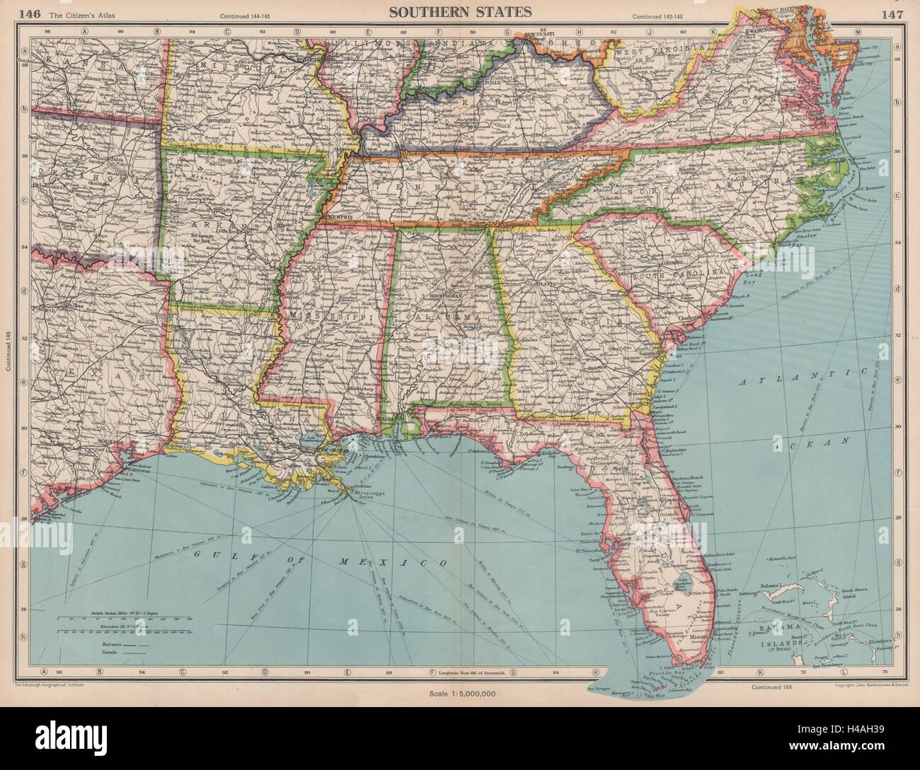USA SOUTHERN STATES Florida Georgia LA MS AL NC SC TN AR KY Stock ...