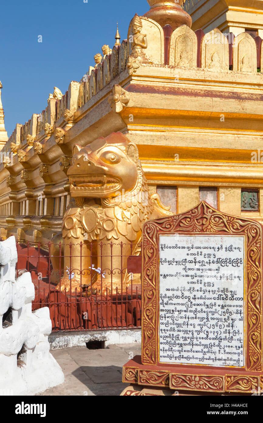 Shwezigon temple in Bagan, Myanmar Stock Photo