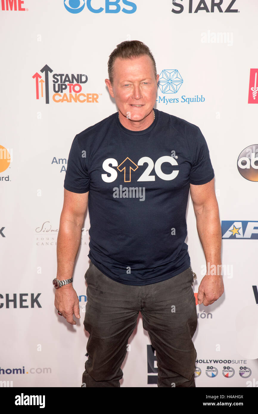 Robert Patrick attending Stand Up to Cancer 2016 red carpet at Disney Hall , Los Angeles CA. - Stock Image