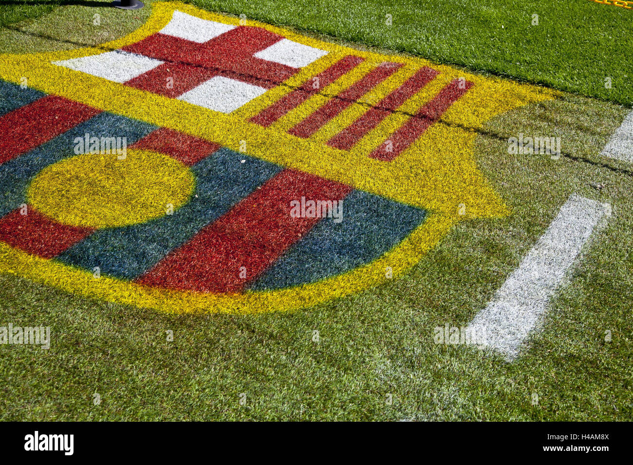 Seats in the camp Nou, Barcelona, Spain, Europe, - Stock Image