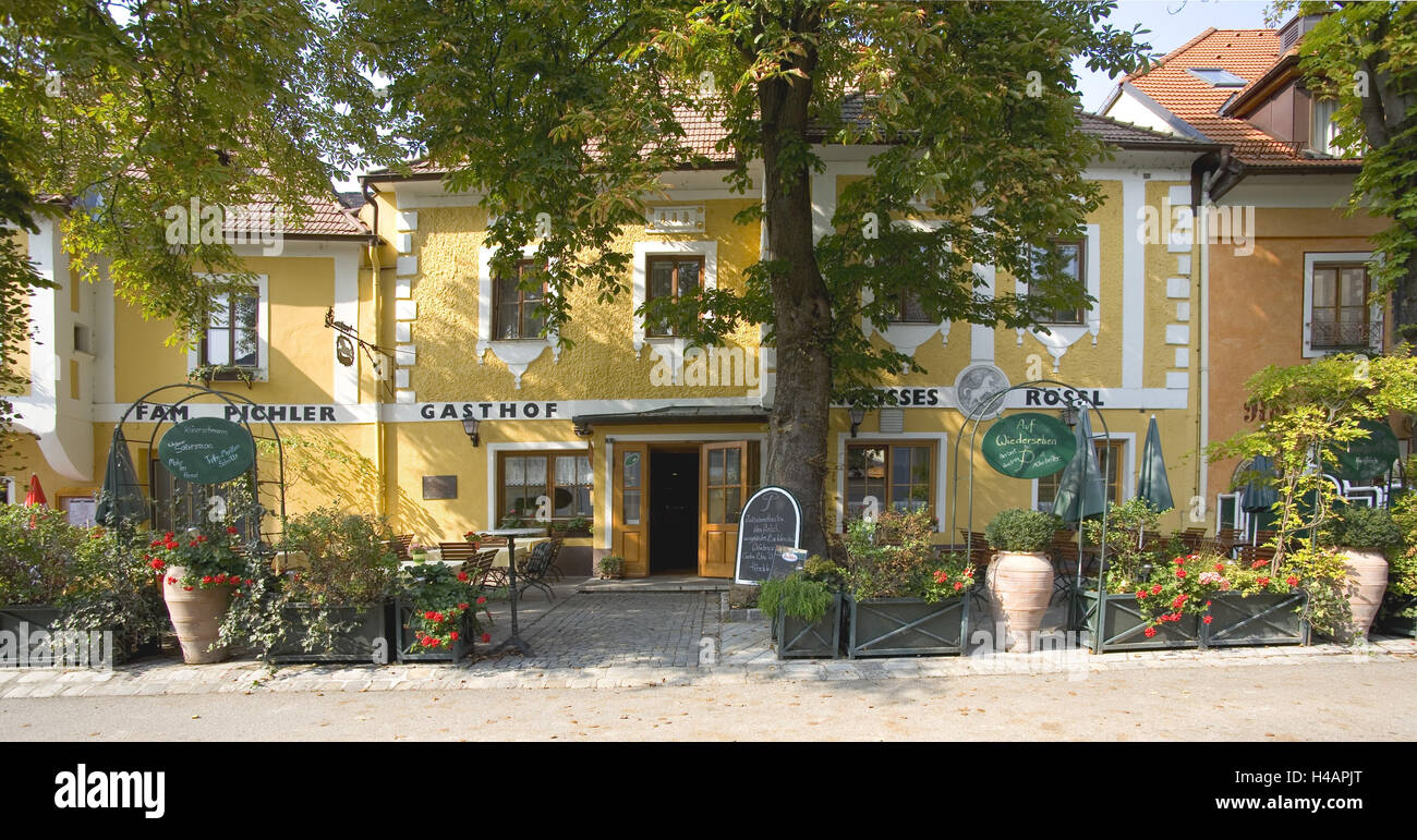 Historical core of Emmersdorf on the Danube, - Stock Image