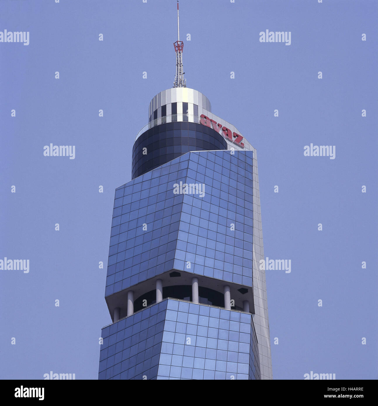 Bosnia-Herzegovina, Sarajevo, Avaz Twist Tower, high-rise office block, - Stock Image