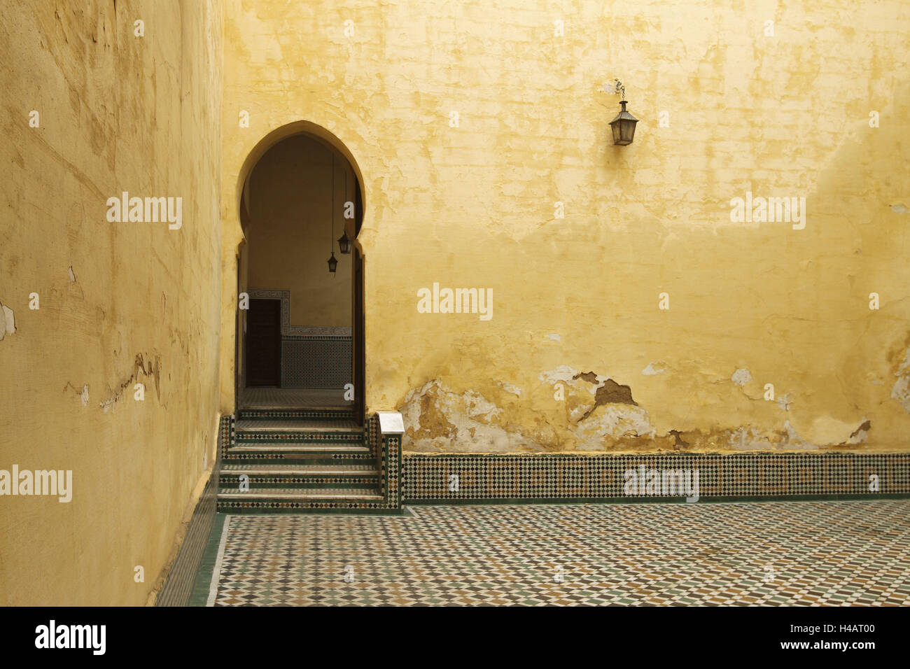 Africa, Morocco, Meknes, Mausoleum of Moulay Ismail, Stock Photo