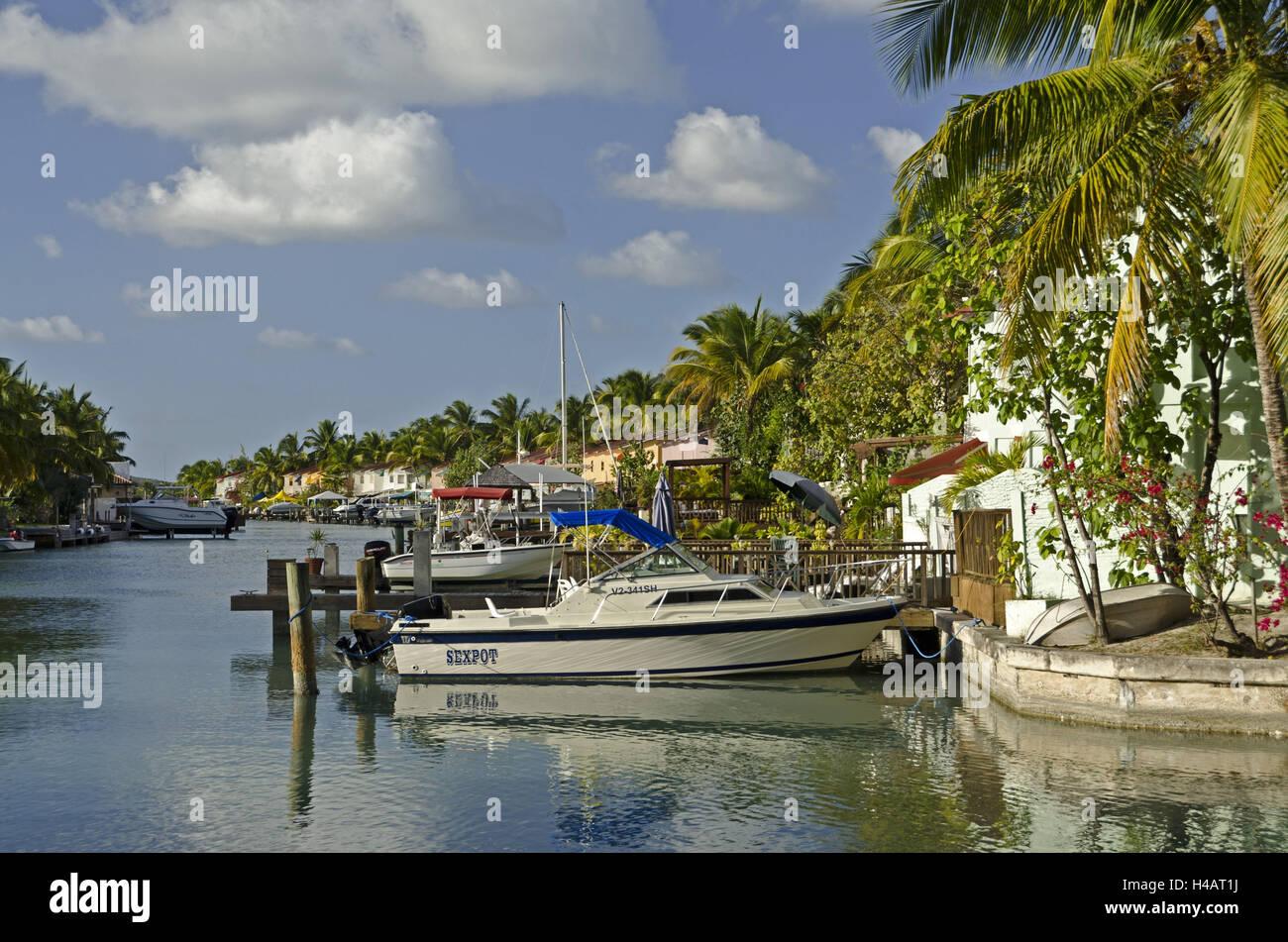 The Caribbean, Antigua, Jolly Harbour, Jolly Beach Resort, - Stock Image