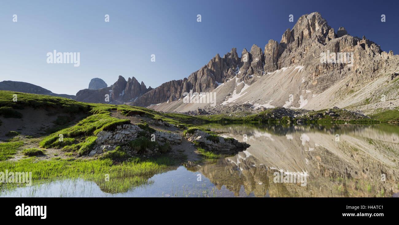 Paternkofel, Bödensee lakes, South Tyrol, the Dolomites mountains, Italy Stock Photo