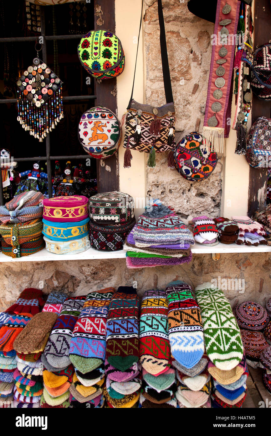 Sales, souvenirs, keepsake, knitwear - Stock Image
