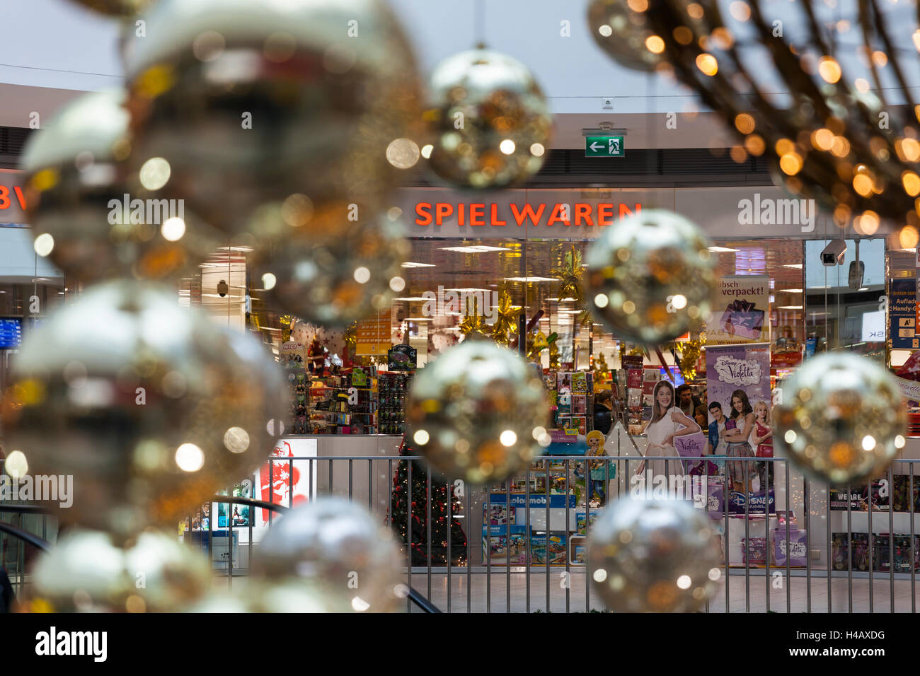 Europe, Austria, Vienna, Westbahnhof Railway Station, Toy Shop, Christmas  Decoration