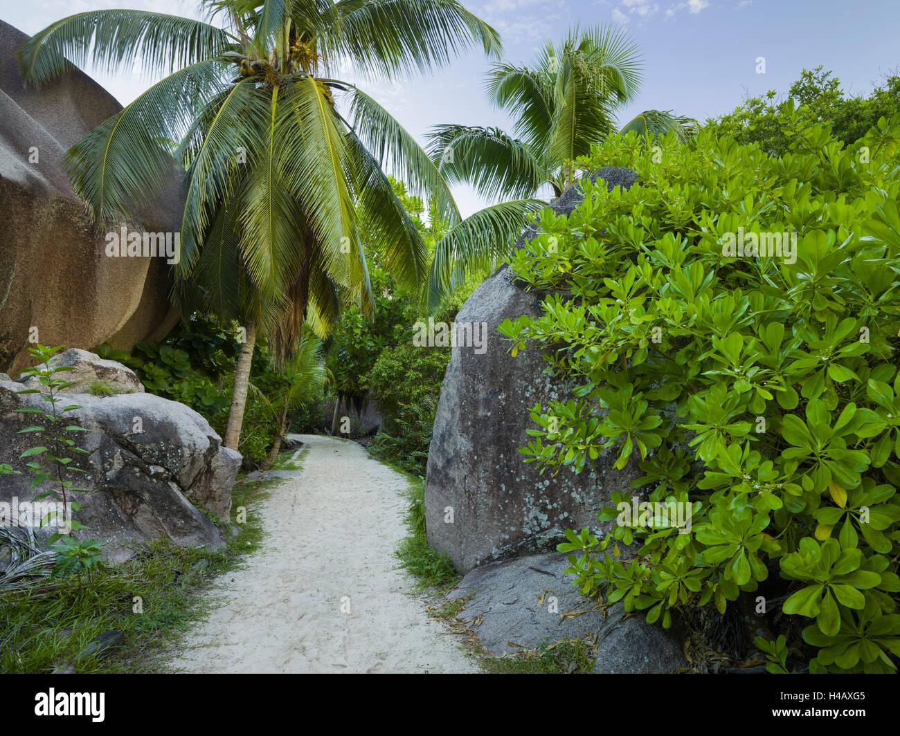 Anse Source d'Argent, La Digue Island, the Seychelles - Stock Image