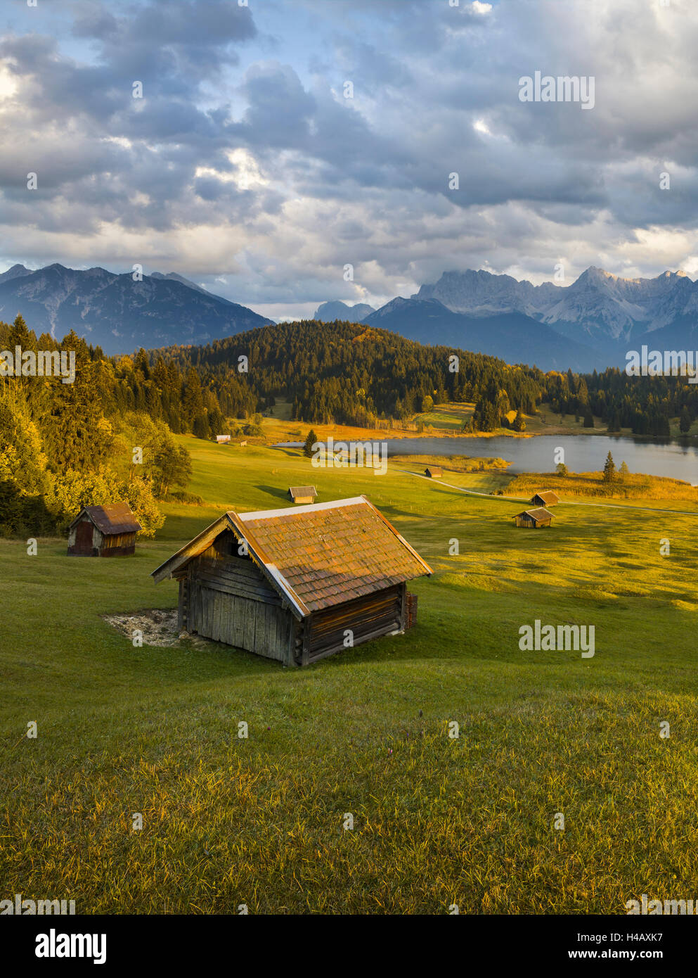 Geroldsee, Karwendel, Upper Bavaria, Bavaria, Germany - Stock Image