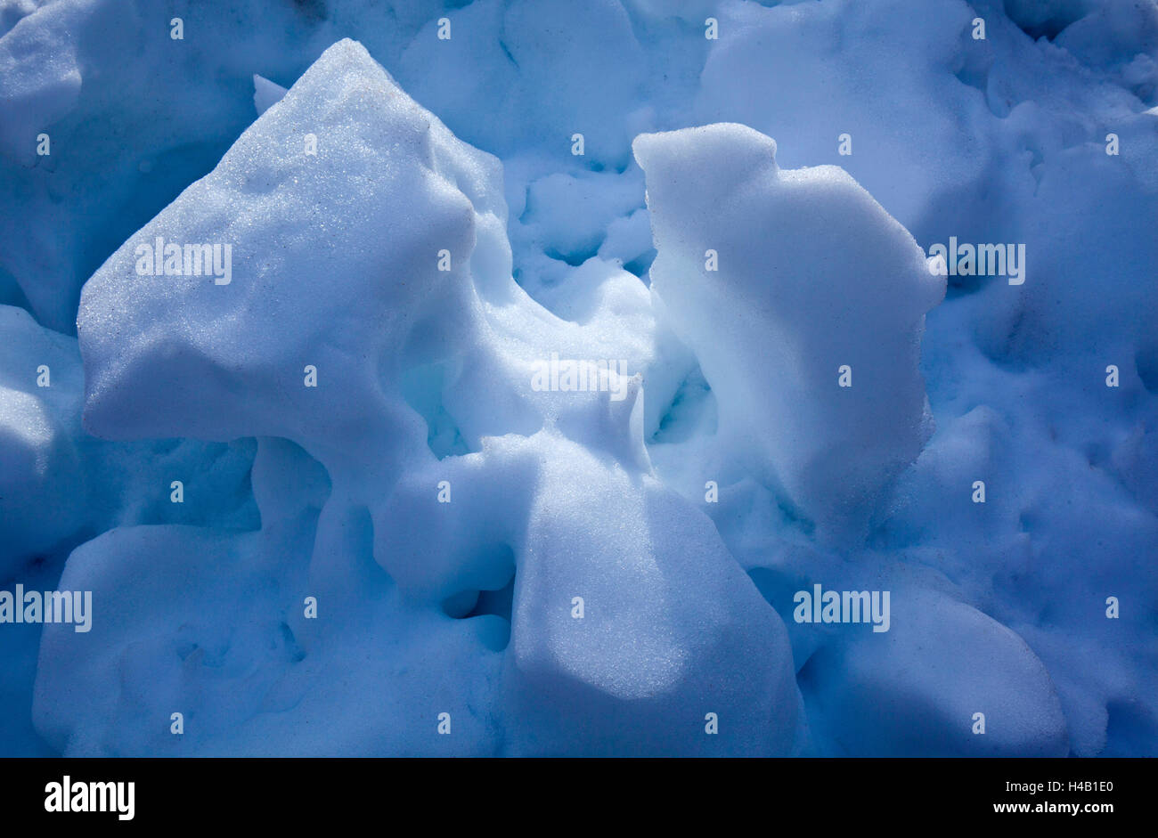rugged snow cover - Stock Image