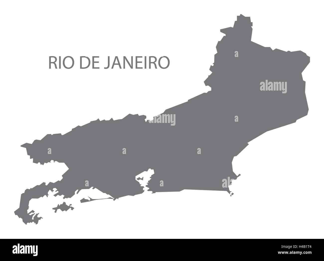 Rio de janeiro brazil map in grey stock vector art illustration rio de janeiro brazil map in grey gumiabroncs Images