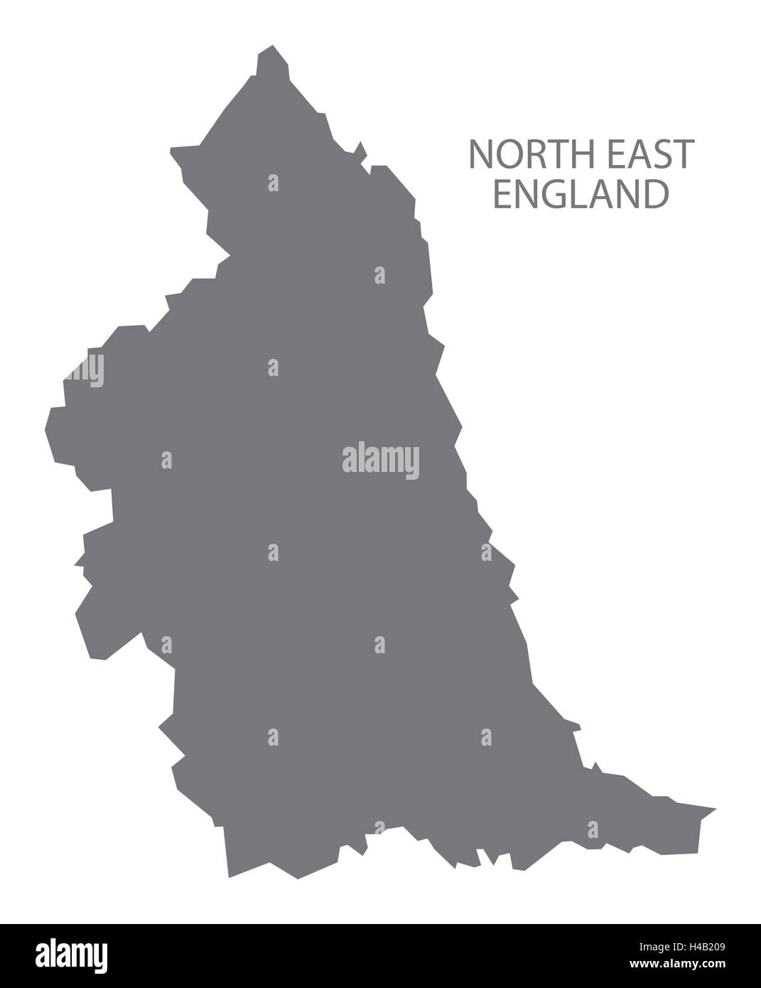 Map Of England North.Grey County Map Of England North East England Stock Vector Art