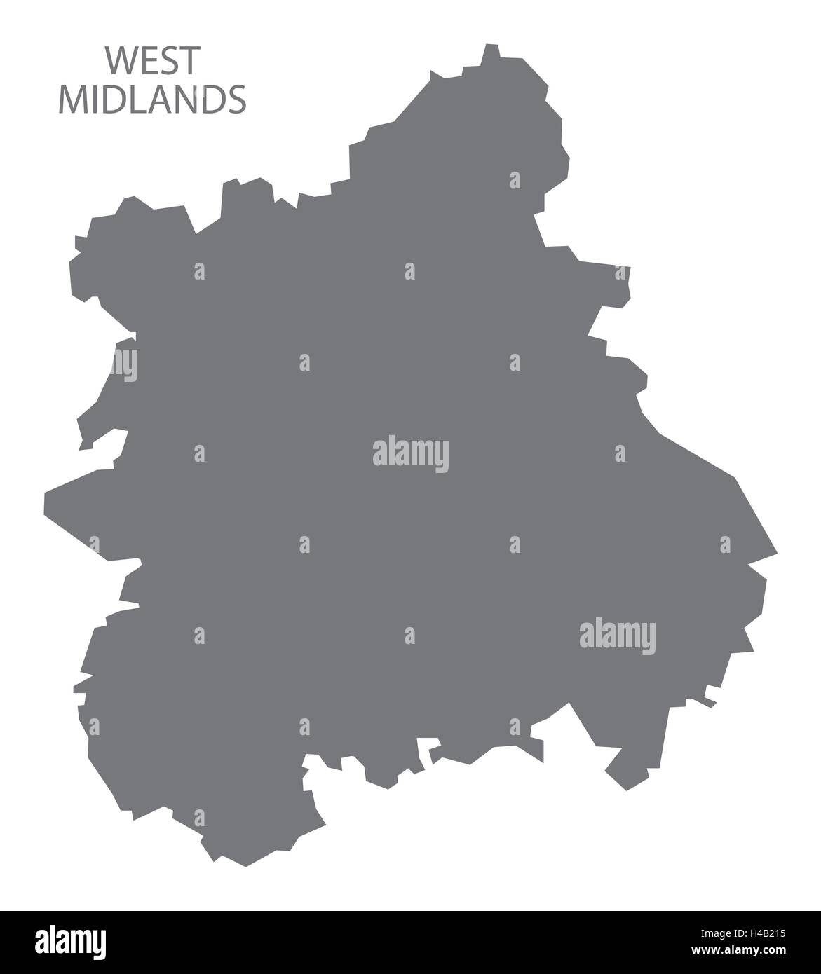Map Of England Midlands.Grey County Map Of England West Midlands Stock Vector Art