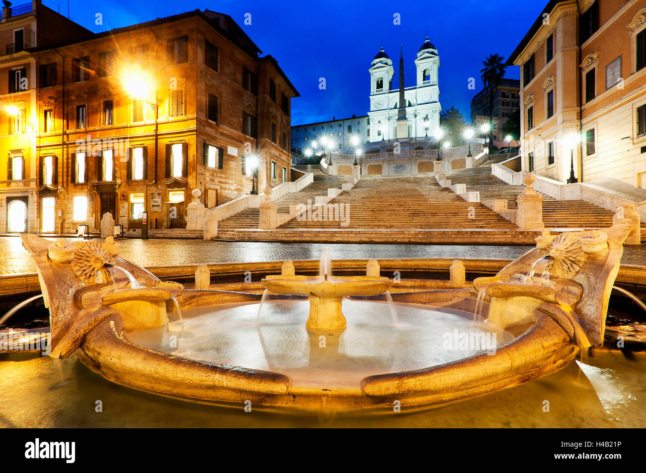 Newly restored Piazza di Spagna, Rome Italy - Stock Image