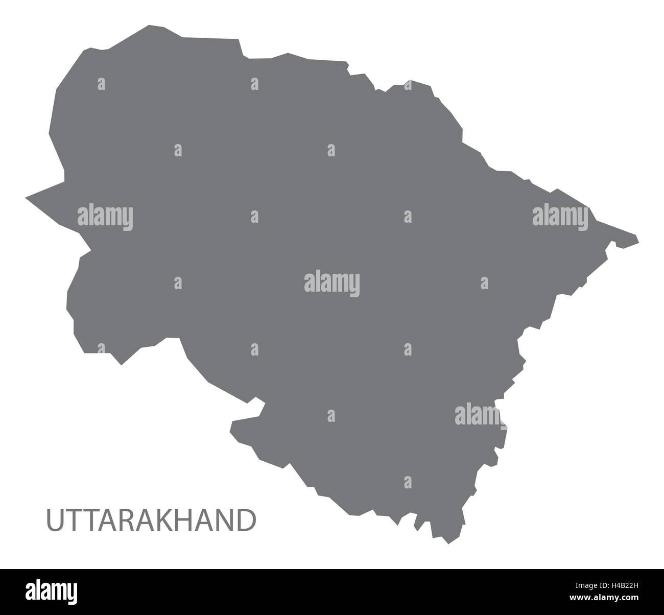 Uttarakhand Map Vector Stock Photos & Uttarakhand Map Vector ...
