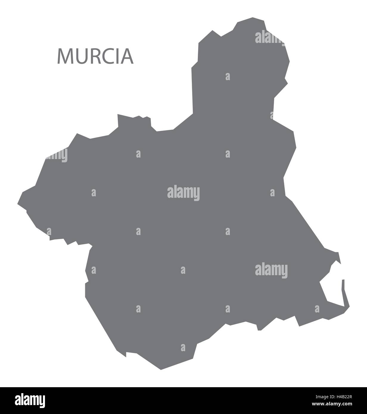 Map Of Spain Murcia.Murcia Spain Map In Grey Stock Vector Art Illustration