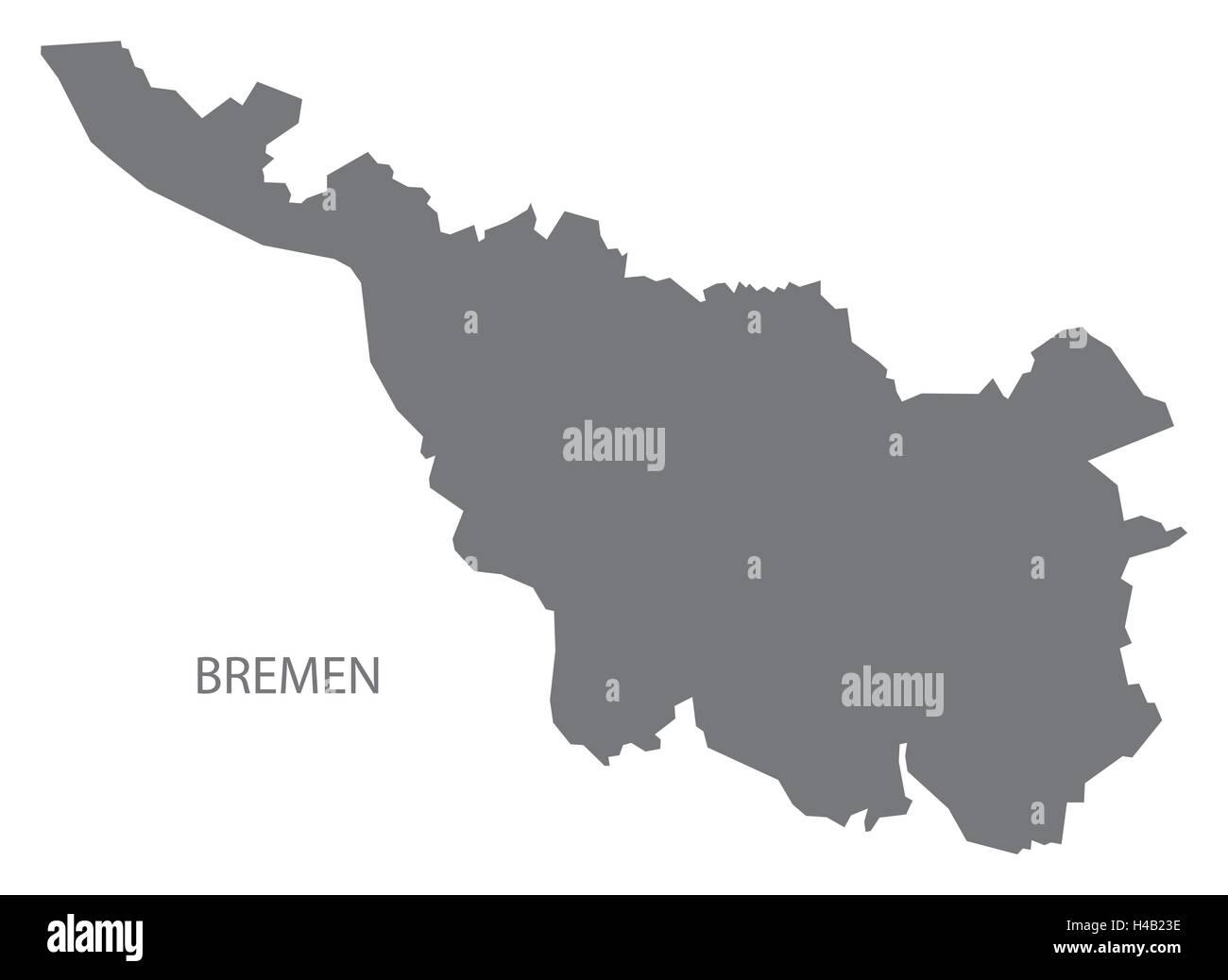 Bremen Germany Map Grey Stock Vector Art Illustration Vector