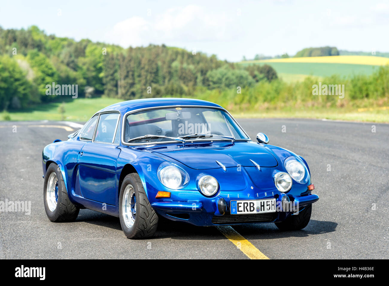Michelstadt, Hesse, Germany, Renault Alpine A 110 SX, blue, built in 1976, 95 hp, engine capacity 1647ccm - Stock Image