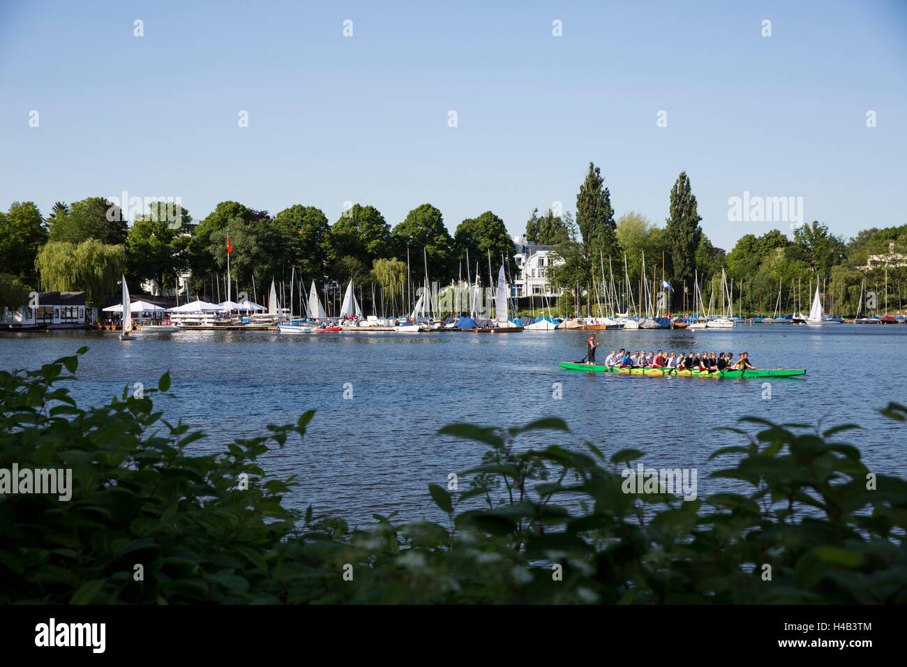 The Outer Alster lake with Bobby Reich in Hamburg, Germany - Stock Image