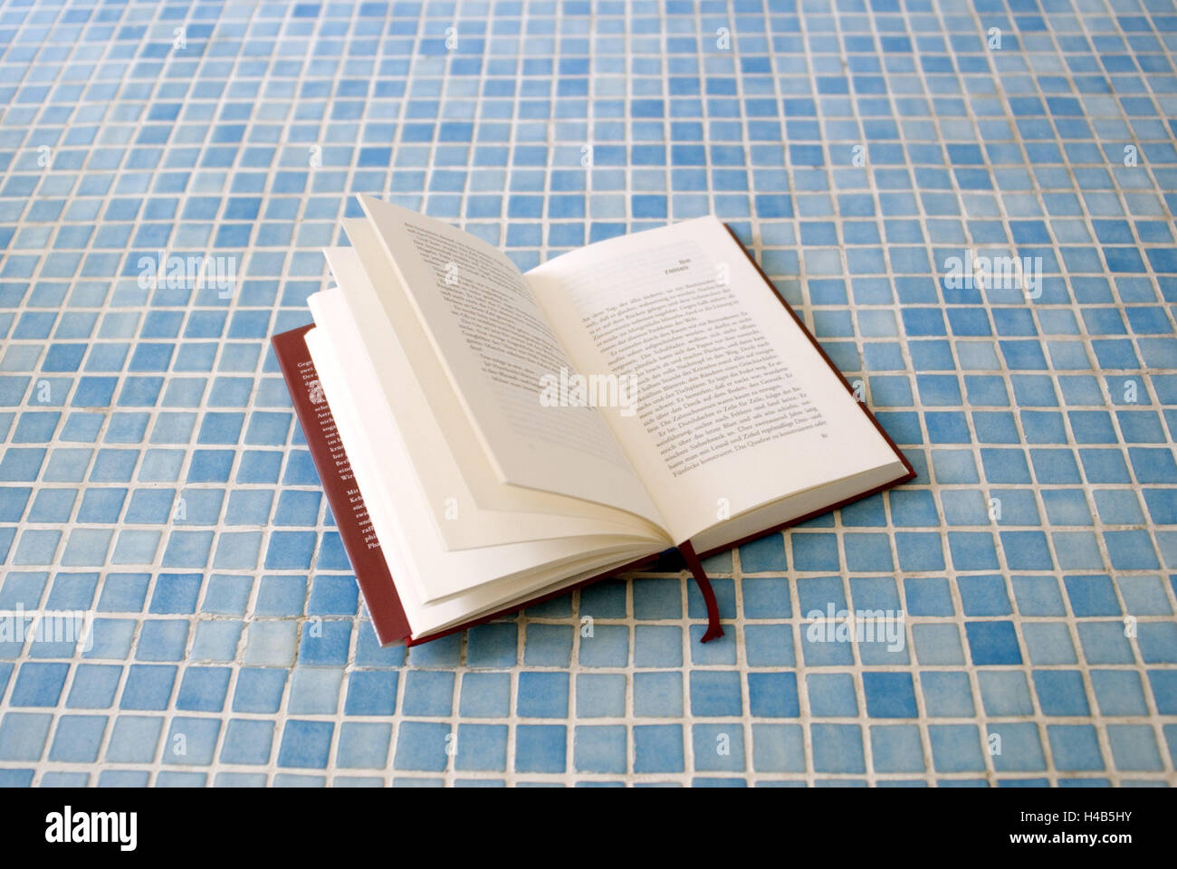 Book, openly, mosaic floor, blue, bathrooms, bath, turquoise, light ...