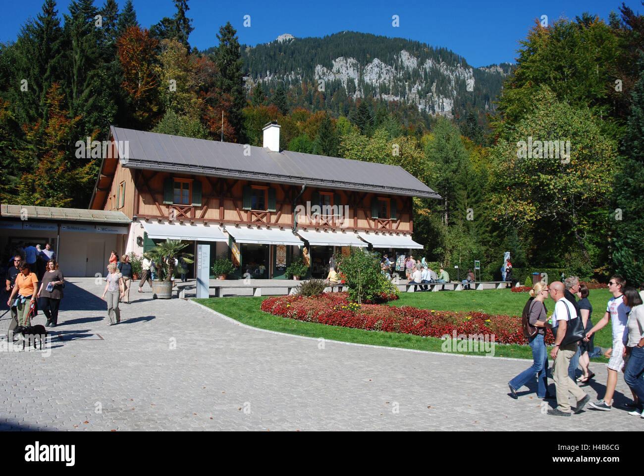Germany, Bavaria, lock, gentle court, input building, souvenir business, park, tourist, Upper Bavaria, castle building, - Stock Image