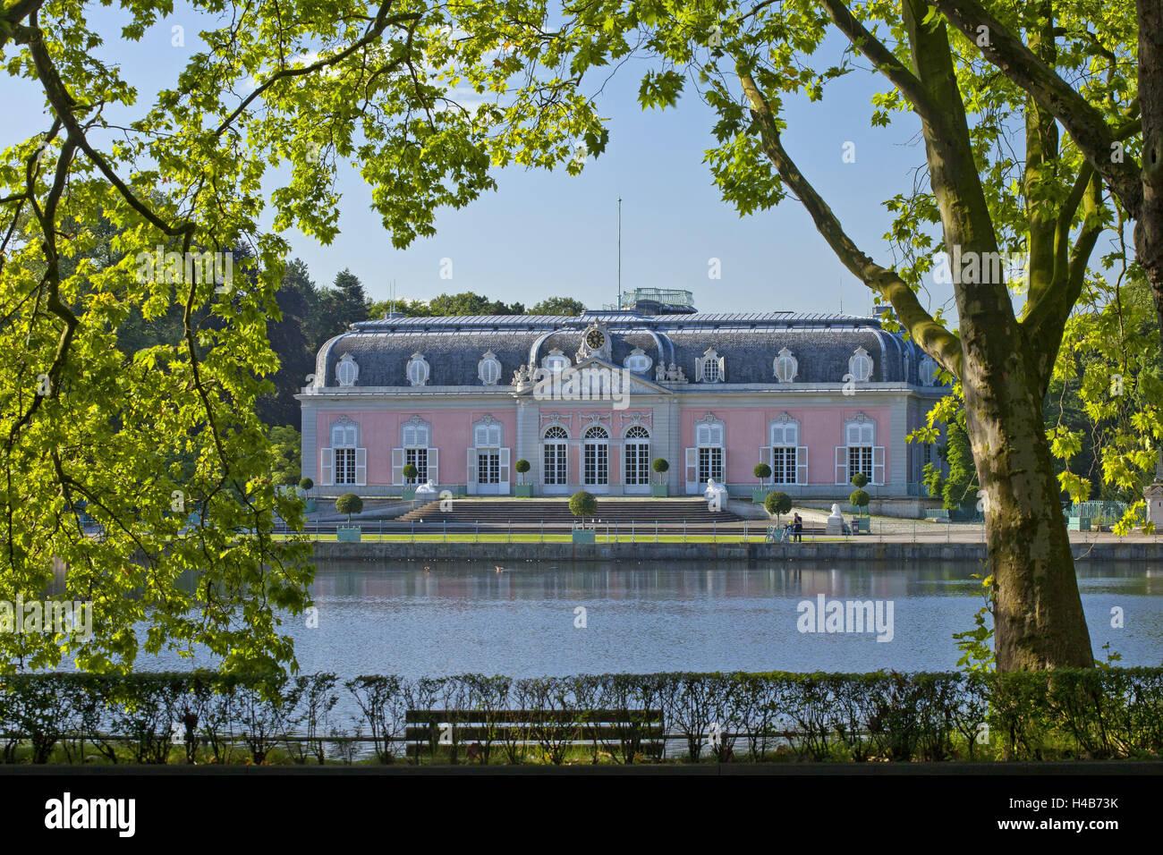 Germany, Rhineland, Dusseldorf, Benrath Palace, Stock Photo