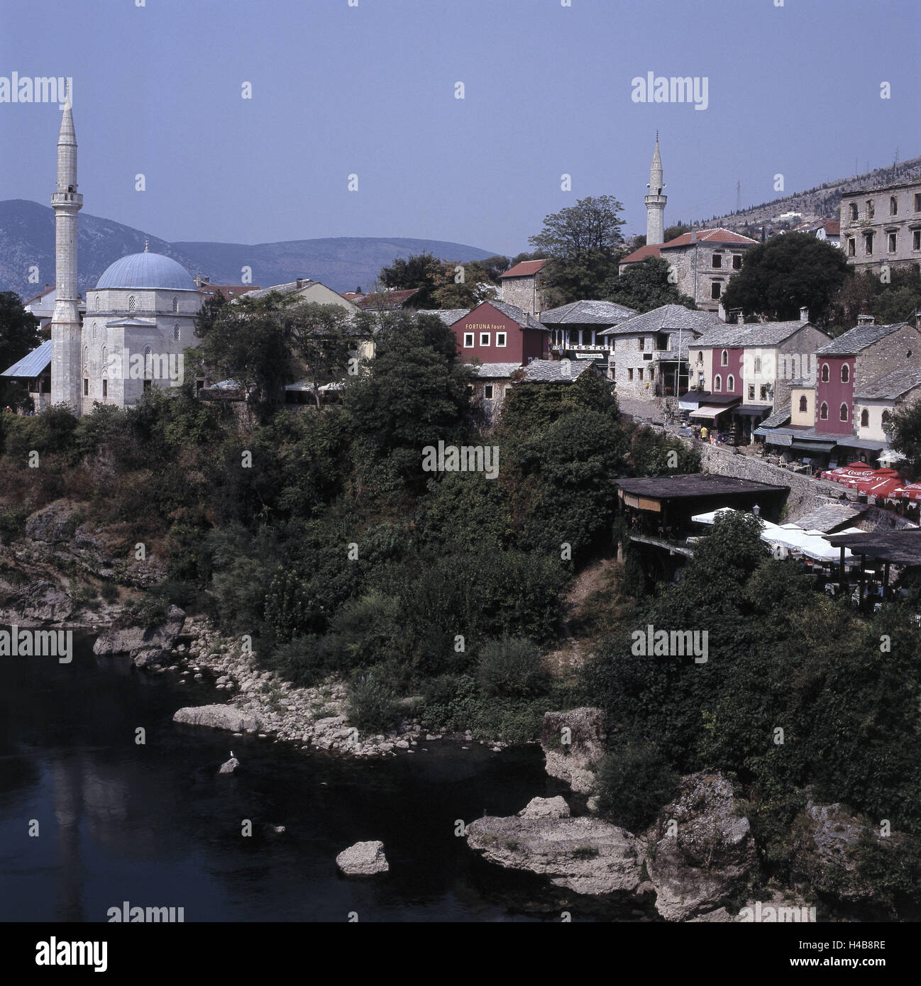 Bosnia-Herzegovina, Mostar, Old Town, townscape, mosques, - Stock Image