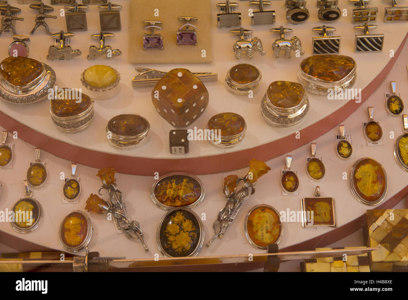 Baltic Amber Jewelry Is On Display Everywhere In Old Town