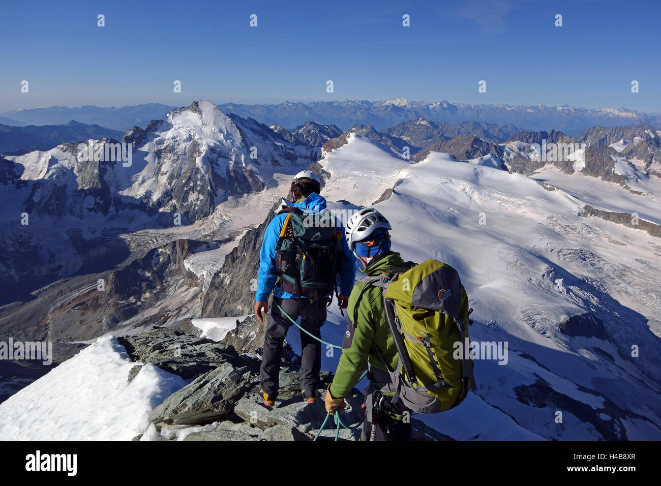 Dent Blanche ascent, - Stock Image