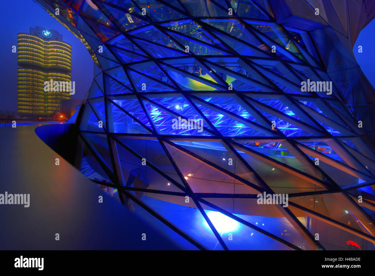 BMW Welt at Munich Olympic Park - Stock Image