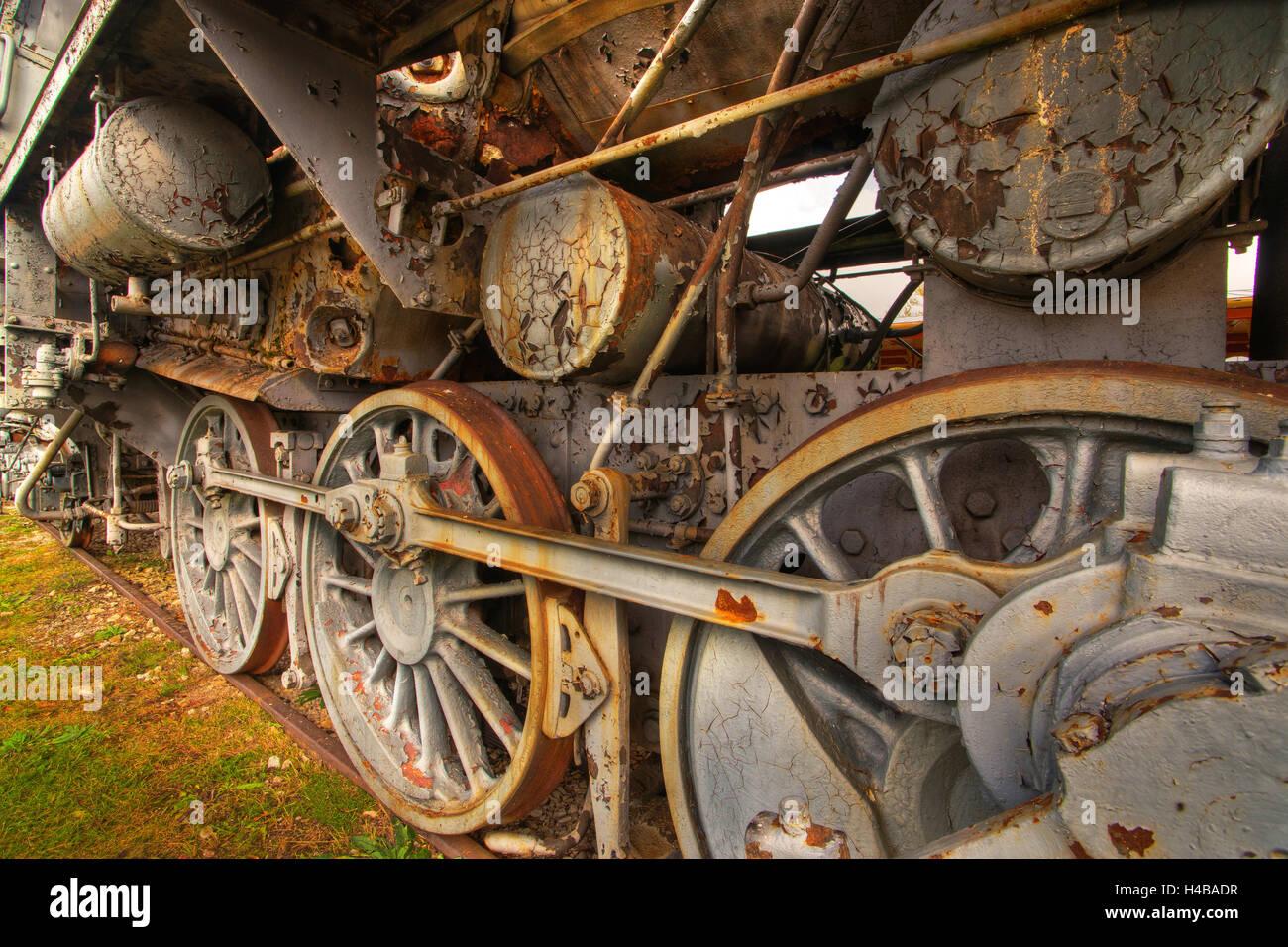 Steam locomotive at the railway station of Haasalu, Estonia - Stock Image