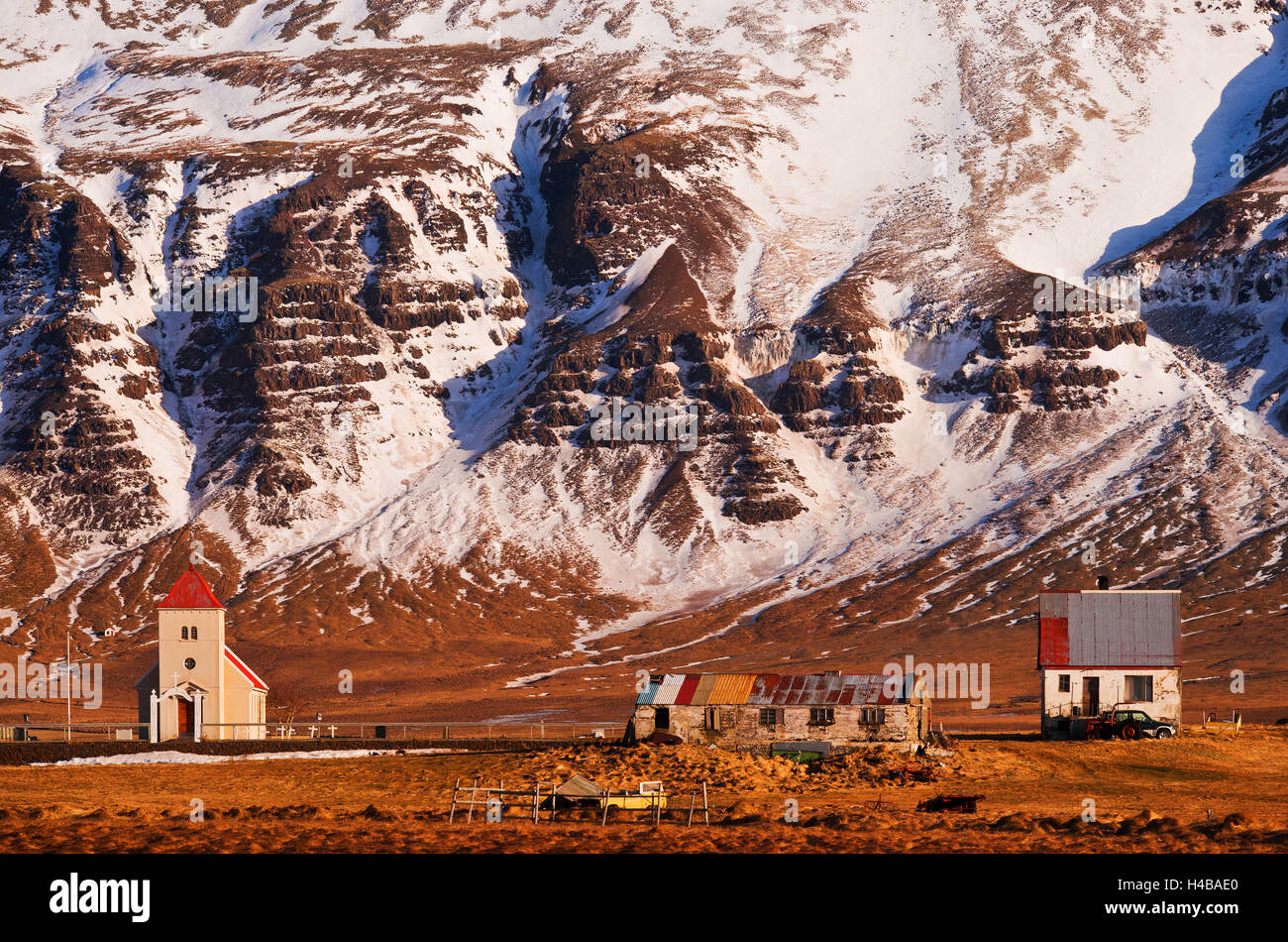 Village Idyll in the southwest of Iceland - Stock Image
