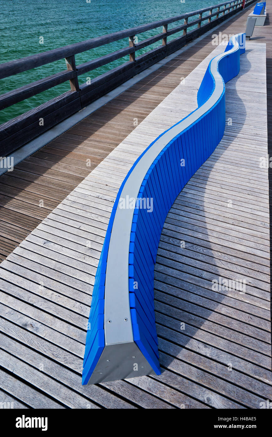Detailed view of the pier in Heiligenhafen, the Baltic Sea - Stock Image