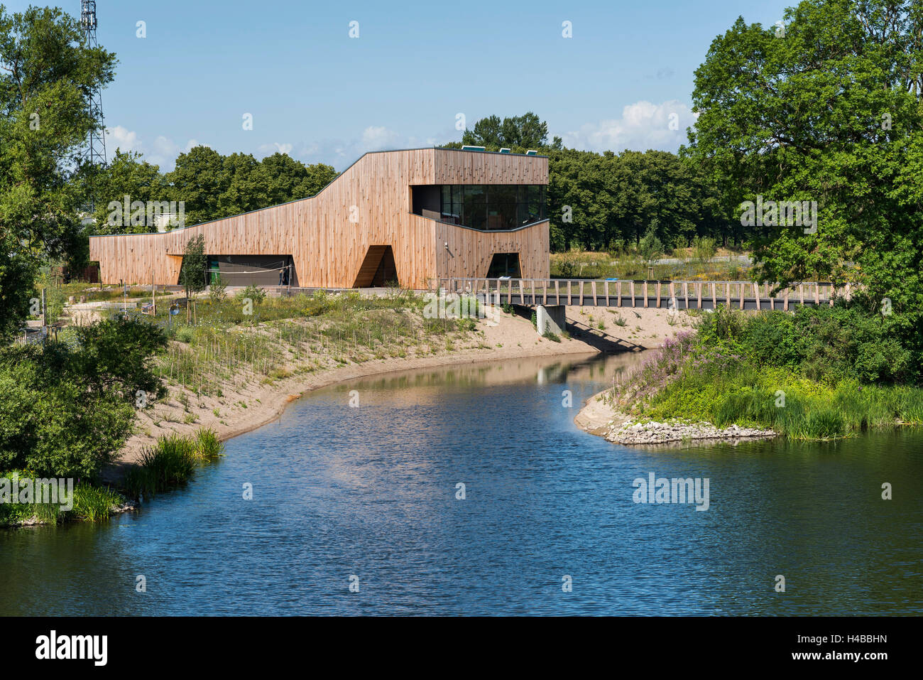 Home of the rivers, Natura 2000 information center, rehabilitated Havel, Middle Elbe Biosphere Reserve, Hanseatic - Stock Image