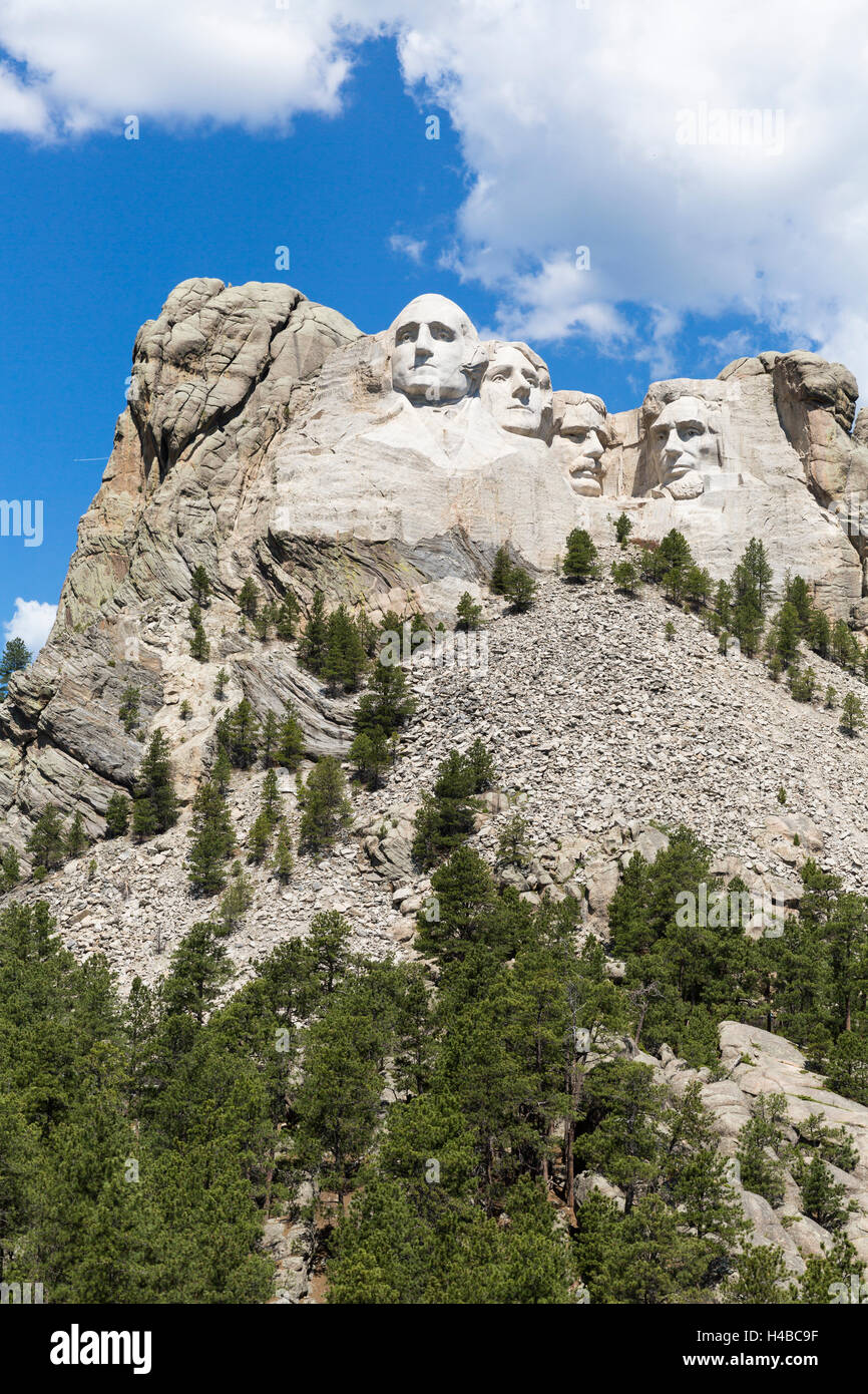 Mount Rushmore National Memorial, South Dakota, USA Stock Photo