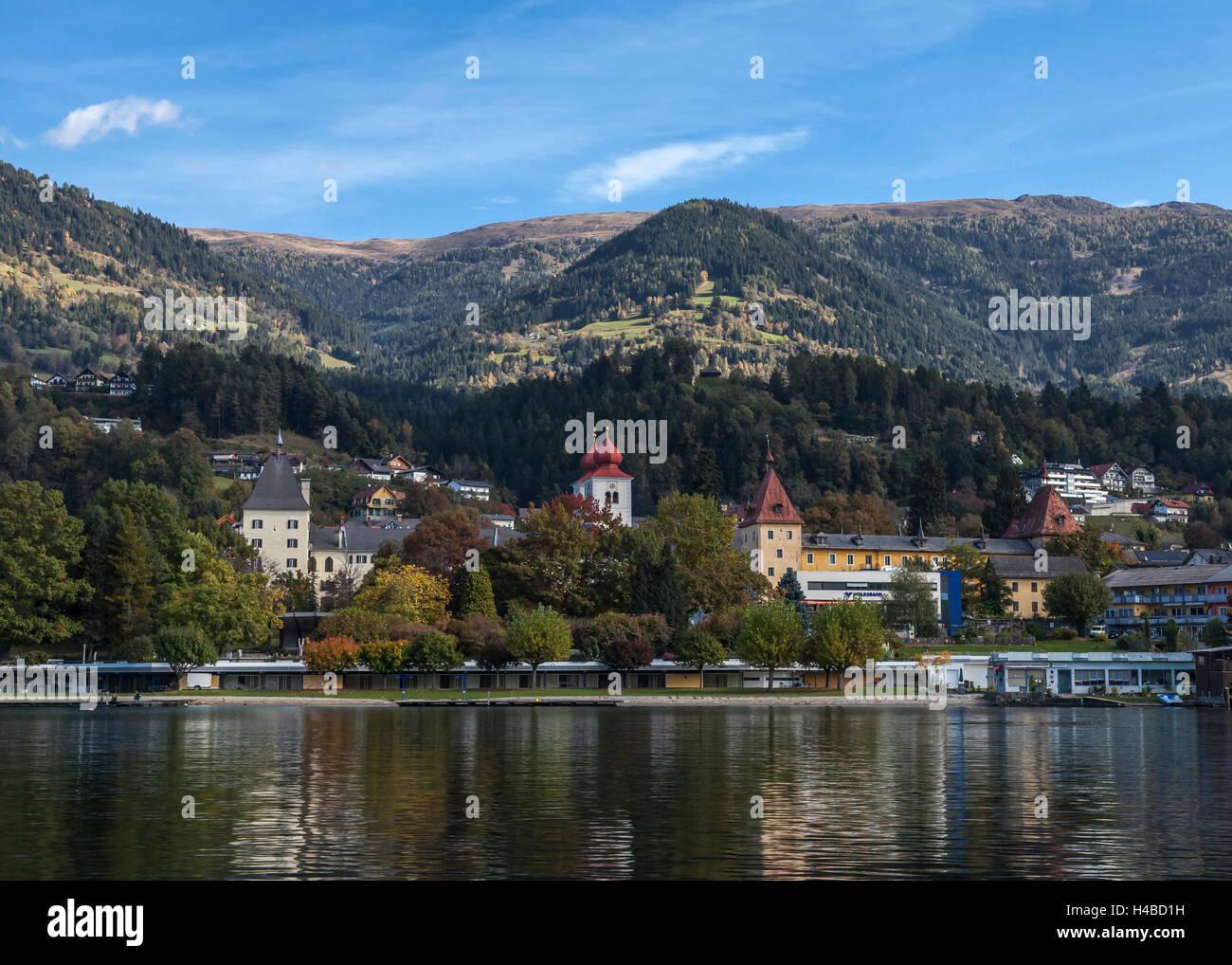 At Lake Millstatt, Austria - Stock Image