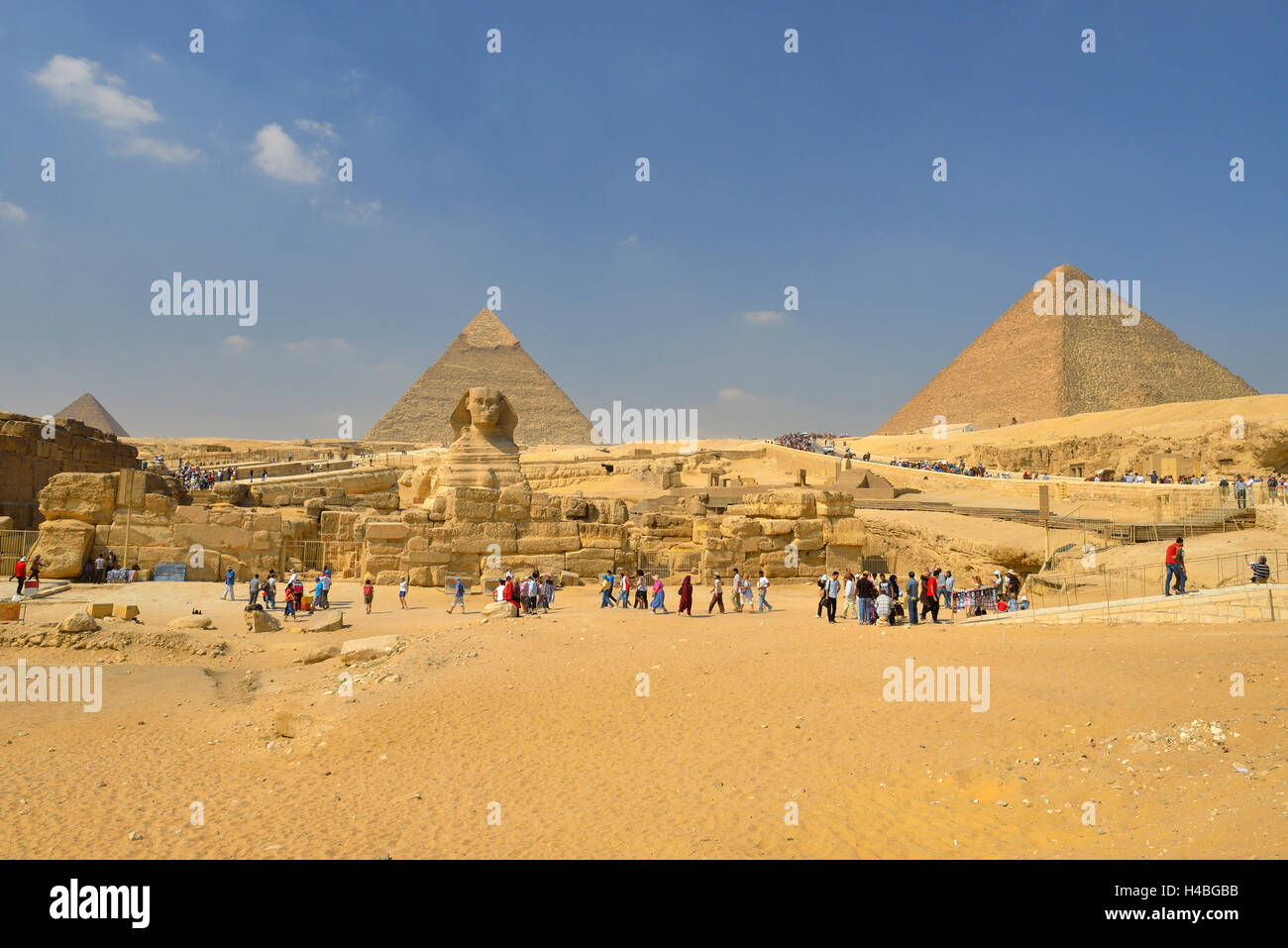 Great Sphinx of Giza, Giza Pyramids, Cairo, Egypt, Middle East, North Africa, Africa - Stock Image