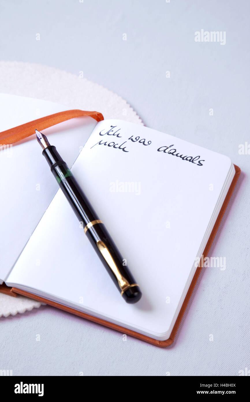 Diary, memories, secrets, Stock Photo