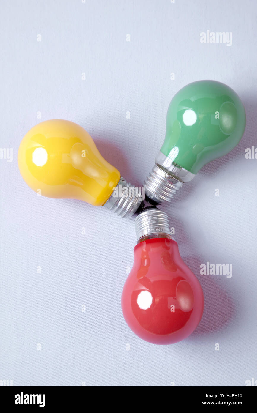 Colour lamps, colour therapy, alternative cure, - Stock Image