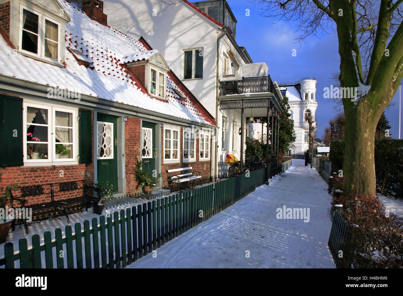 Germany, Hamburg, historical captain's houses in Hamburg-Övelgönne, - Stock Image