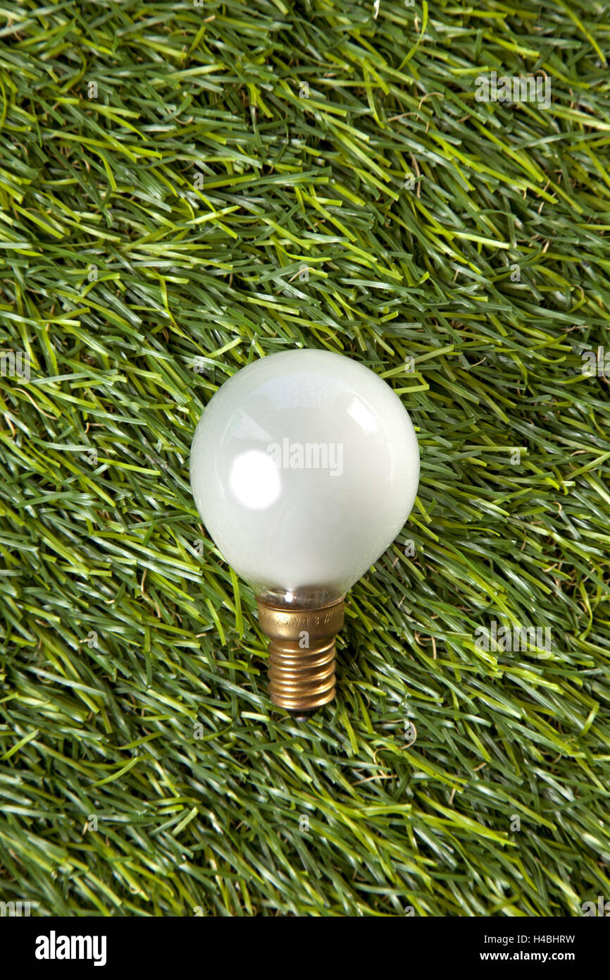 Light bulb, symbol, energy, current, eco-friendly, - Stock Image
